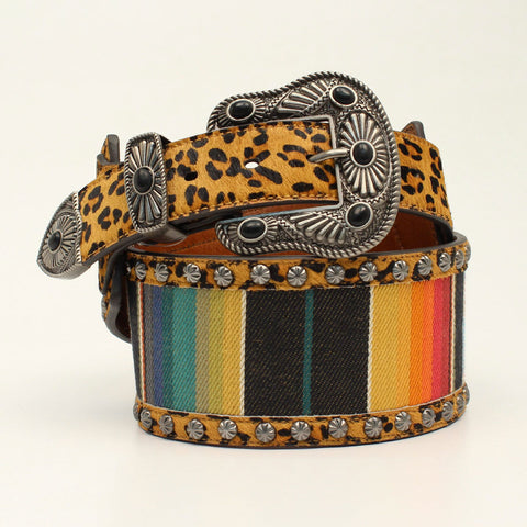 Angel Ranch Ladies' Serape and Leopard Belt