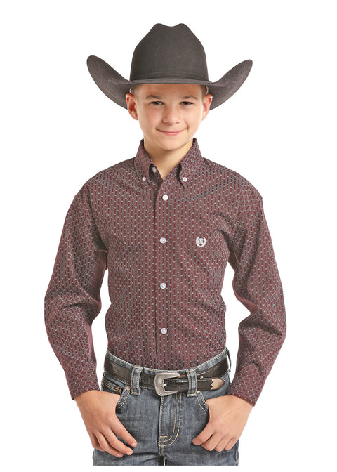 Panhandle Slim Boys Long Sleeve Button Down Shirt