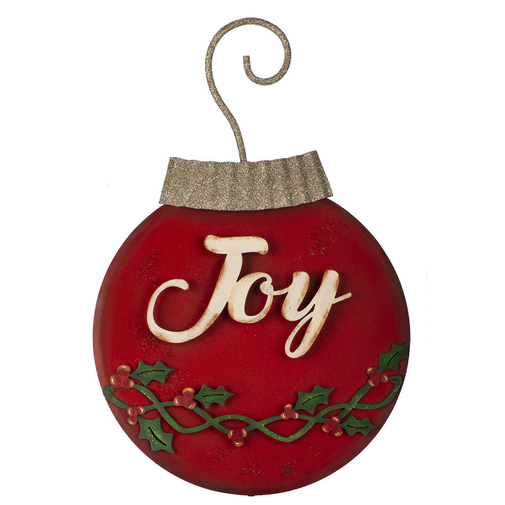 Small Joy Ornament Wall Hanging or Stake