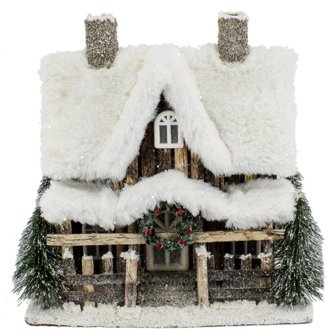 Winter Cottage w/ LED Light