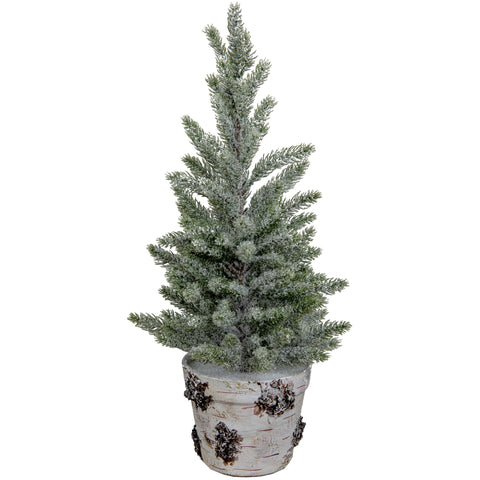 Potted Faux Snow Mountain Pine Tree