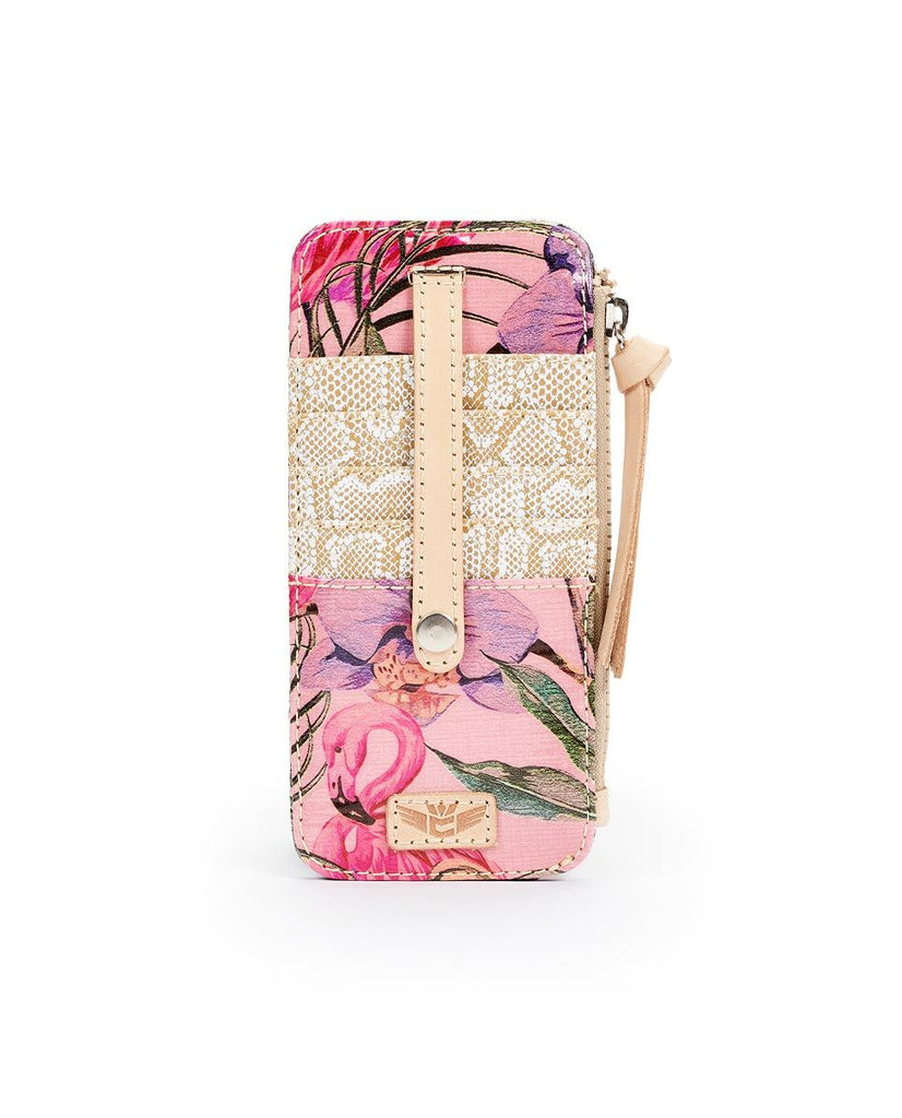 Consuela Bags Brynn Flamingo Card Organizer | Cornell's Country Store