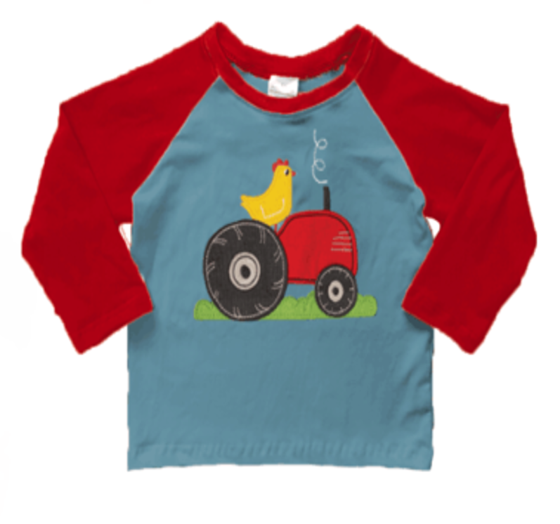 Chicken On A Tractor Raglan Tee