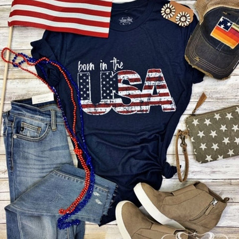 Born In The USA Graphic Tee | Cornell's Country Store