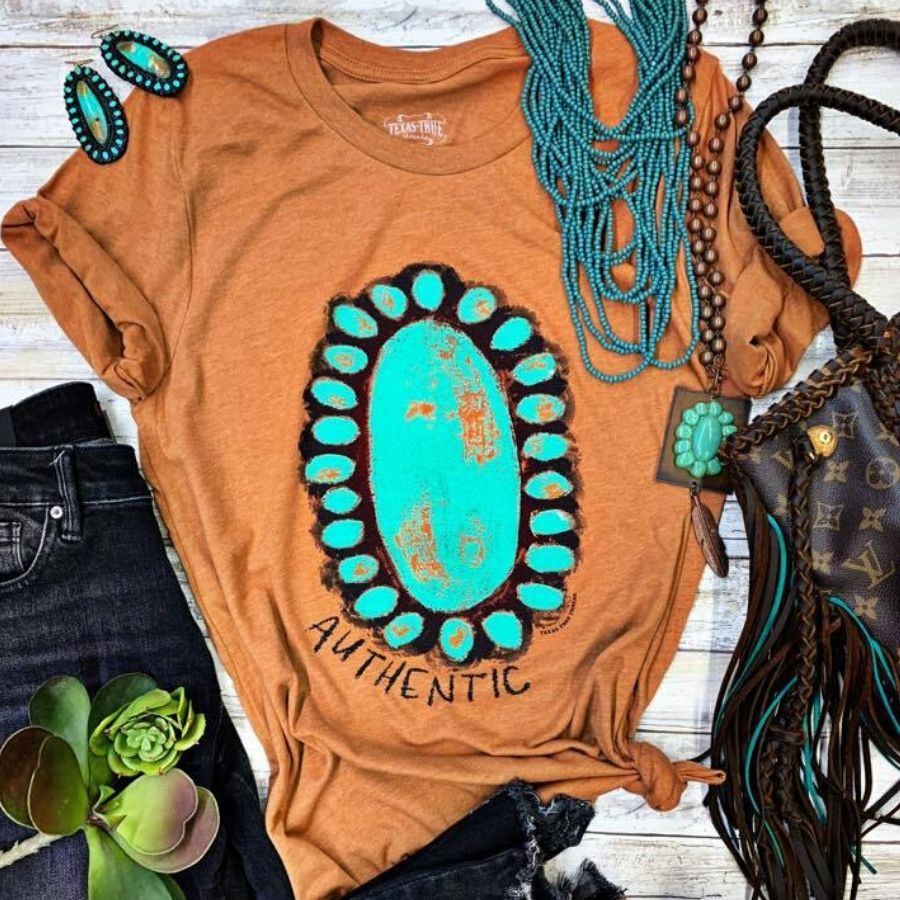 Authentic Turquoise Lover Graphic Tee | Cornell's Country Store