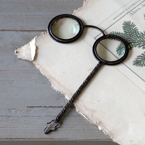 Vintage Inspired Spectacle Bronze Magnifier | Cornell's Country Store