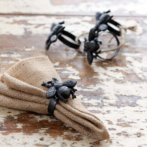 Bumble Bee Napkin Rings Set of 4