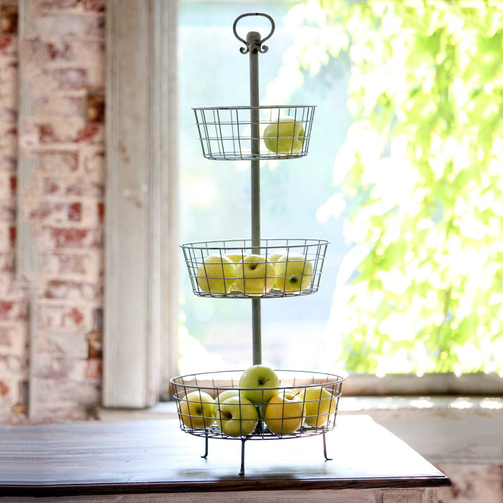 Three Tier Basket Display Stand
