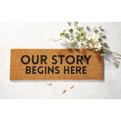 Our Story Begins Here Coir Door Mat