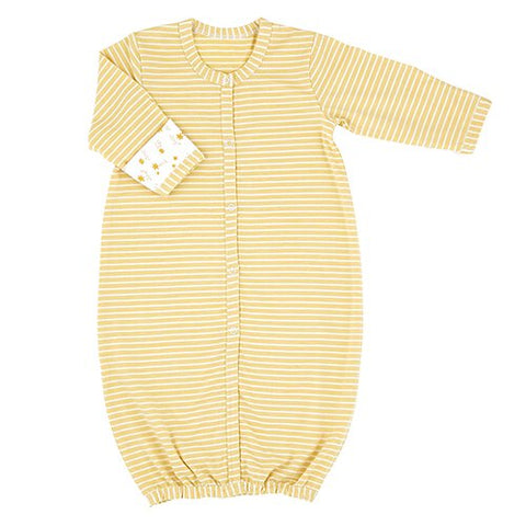 Newborn Gown - Gold Star / Stripe