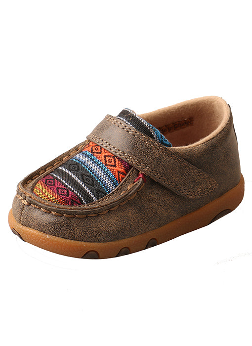 Twisted X Infant Driving Moccasins – Bomber/Multi Serape