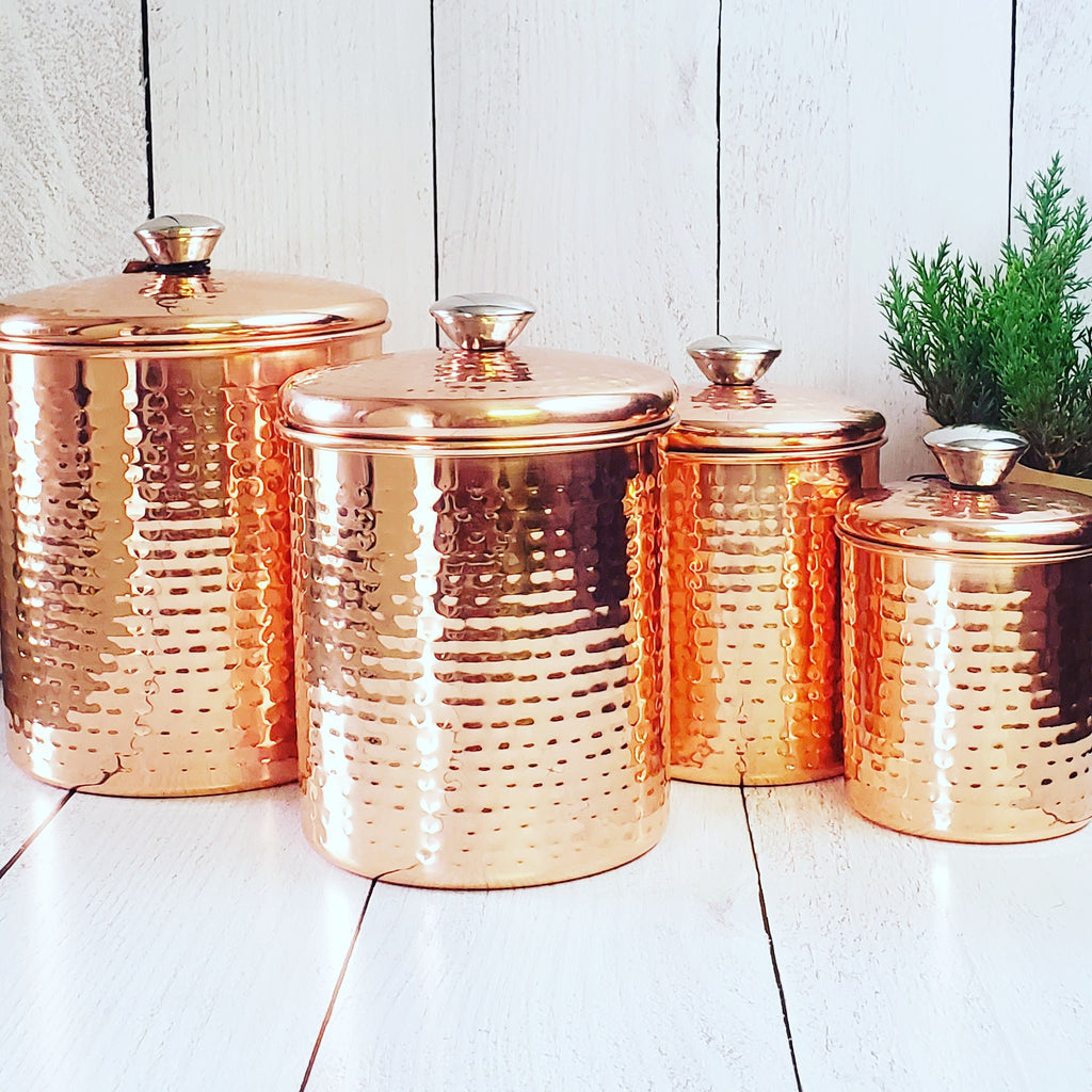 Hammered Copper Canisters | Cornell's Country Store