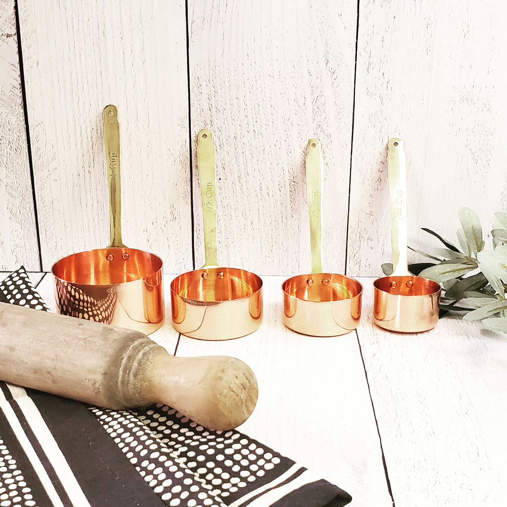 Copper and Brass Measuring Cups