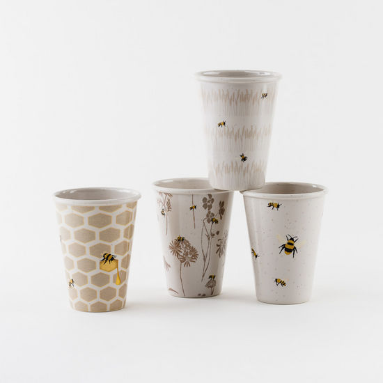 Busy Bees Melamine Cups