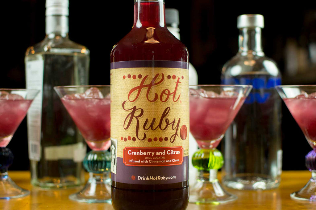 Hot Ruby Cranberry and Citrus Juice Coctail