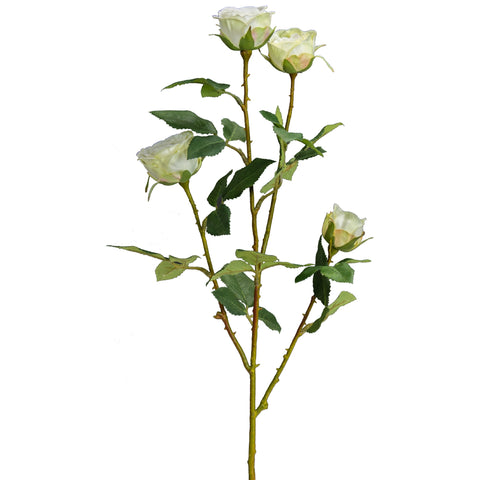 "24"" Rose Spray - White w/ Green Cornell's Country Store"