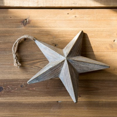 Large Wooden Star Ornament