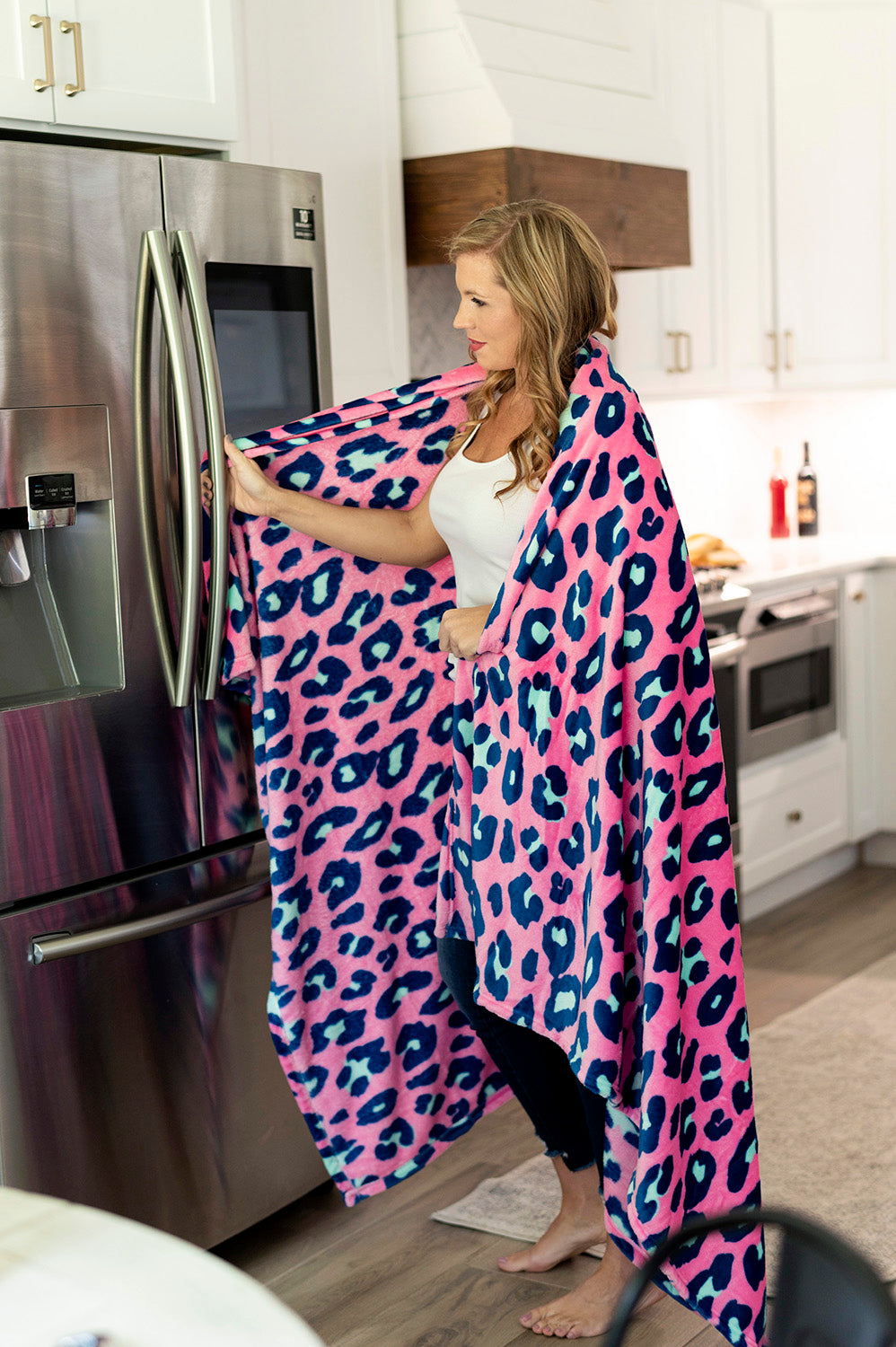 Hot Pink Leopard Plush and Cozy Blanket | Cornell's Country Store