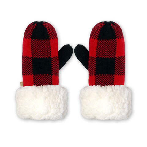 Lumberjack Red Kids Mittens