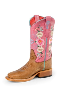 Macie Bean Girls' Rose Embroidered Boots MK7047