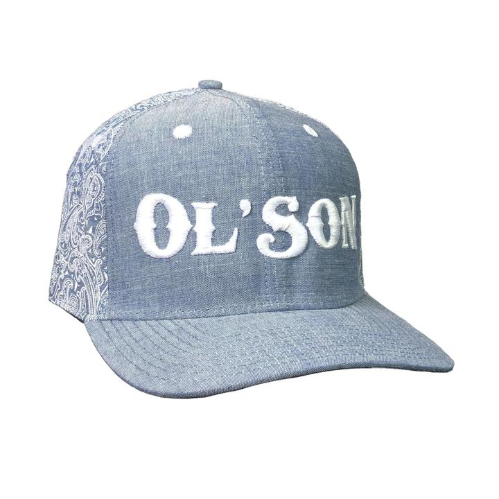 Dale Brisby Ol' Son Light Denim Paisley Flatbill Cap | Cornell's Country Store