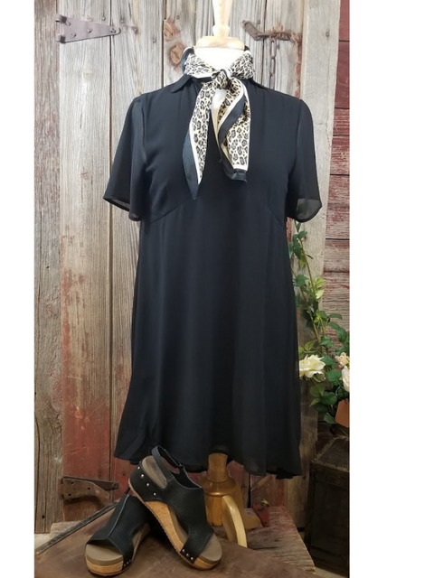 Blousey Black Dress