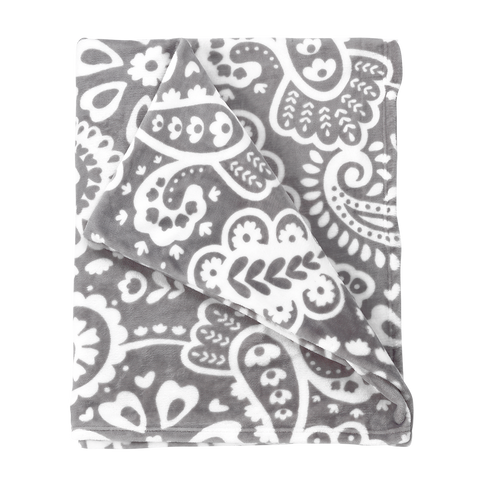 Parker Paisley Plush and Cozy Blanket