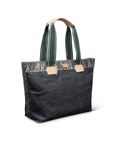 Consuela Bags Grey Canvas Flynn Zipper Tote
