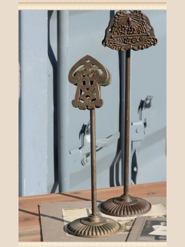 Vintage Inspired Metal Clip Stand Set of 2