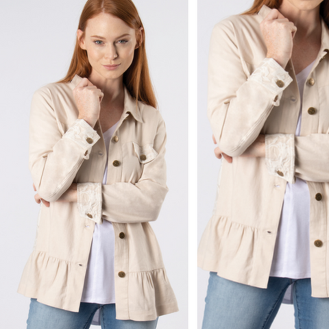 Island Breeze Button Up Jacket by Simply Noelle