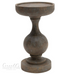 Mango Wood Candle Holder, Blackwash Finish | Cornell's Country Store