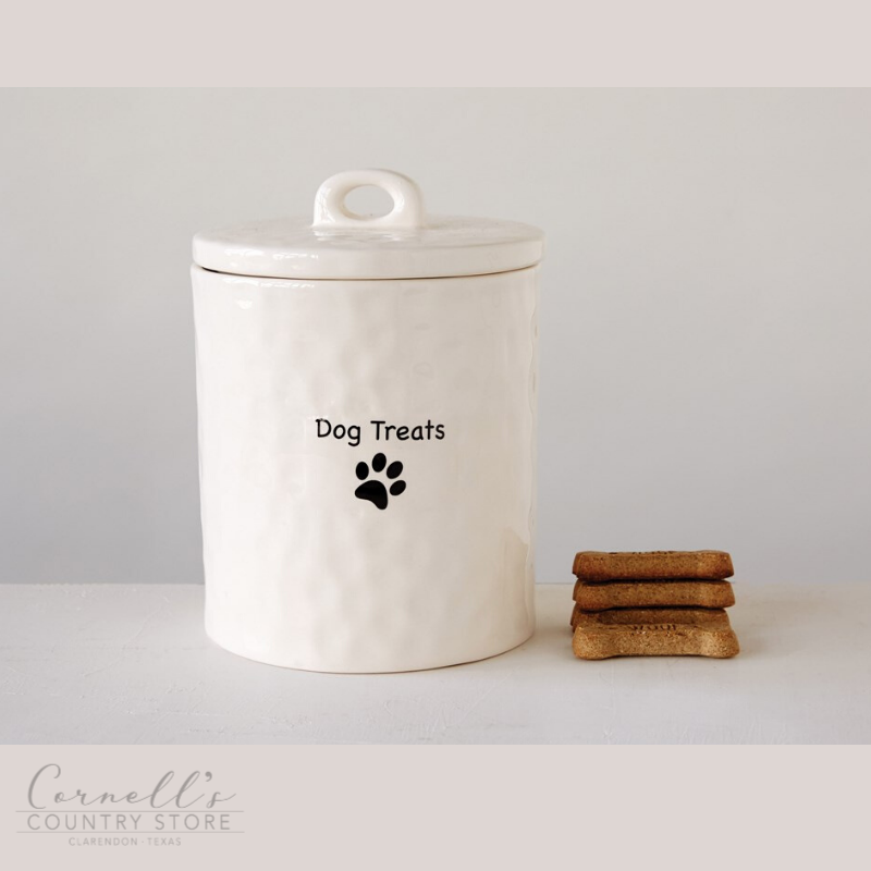 "Stoneware Canister ""Dog Treats"" 