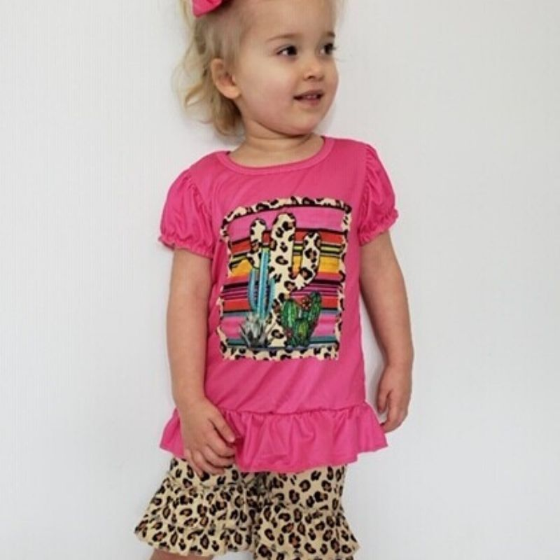 Leopard Cactus Girls' Boutique Set | Cornell's Country Store