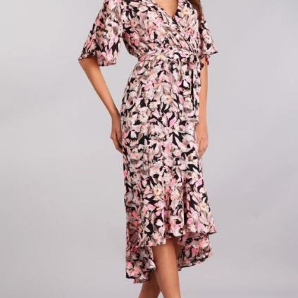 Floral Print Hi Low Dress | Cornell's Country Store