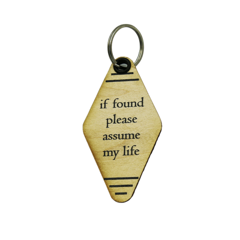 Retro Wood Key Chains - Funny