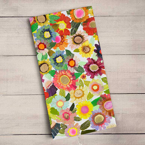 Blooms, Floral Tea Towels