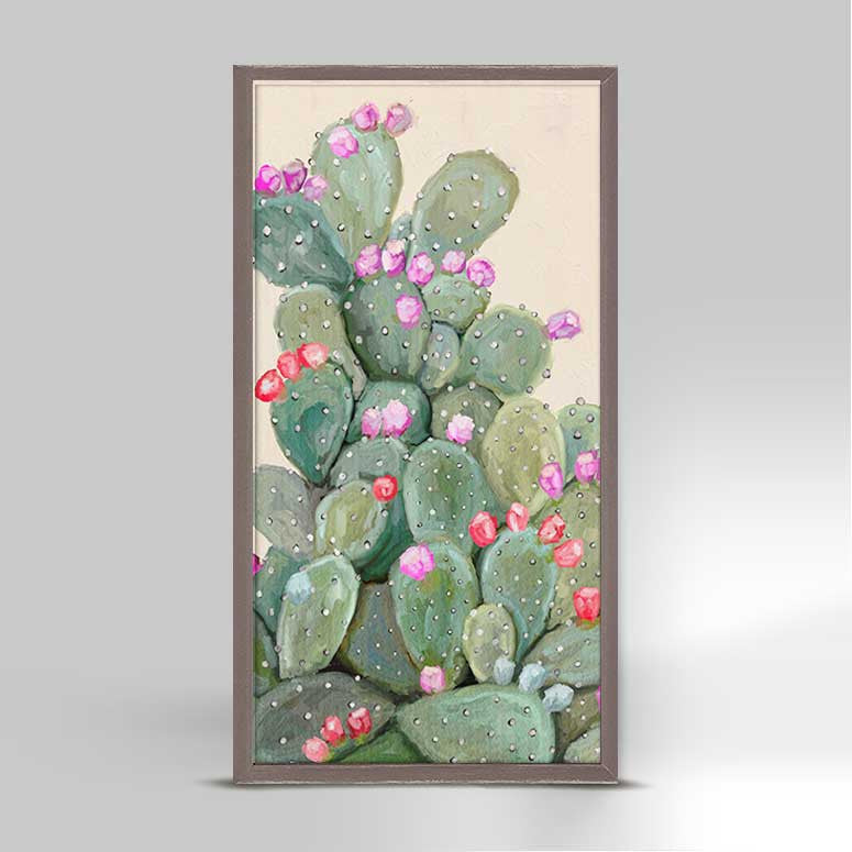 Mini Framed Cactus Canvas