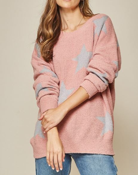 Catch A Star Mauve Sweater | Cornell's Country Store