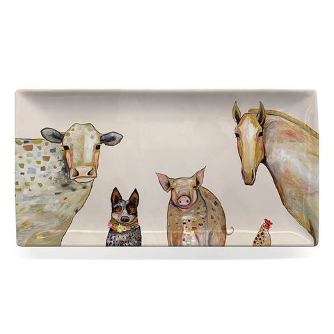 Cattle Dog and Crew Serveware Rectangular Platter