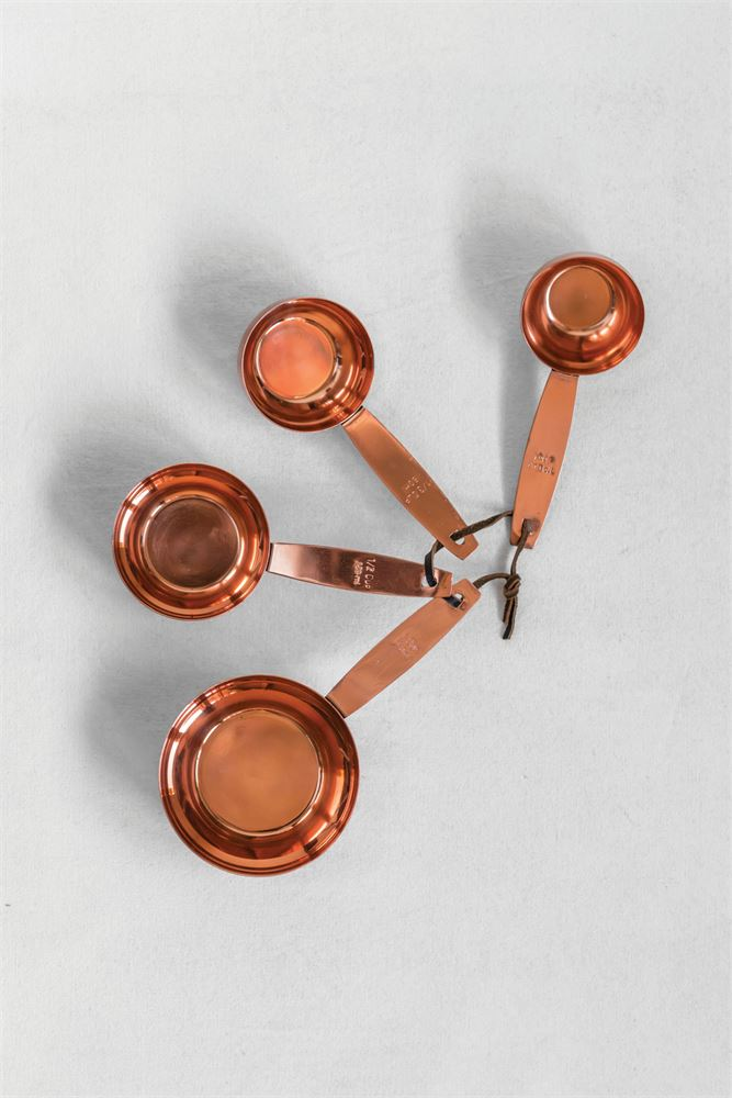 Copper Finish Metal Measuring Spoons