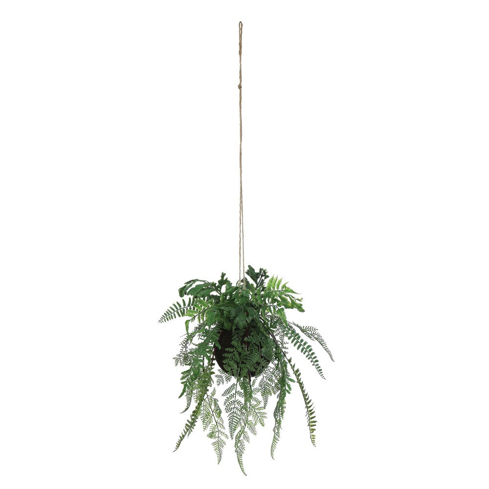 "8-1/2""H Faux Hanging Fern Premade Arrangement 