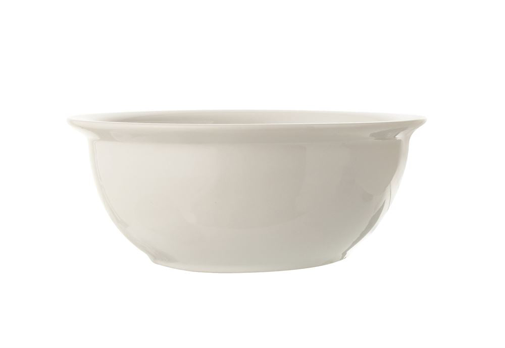 Stoneware Vintage Reproduction Bowl, Antique White