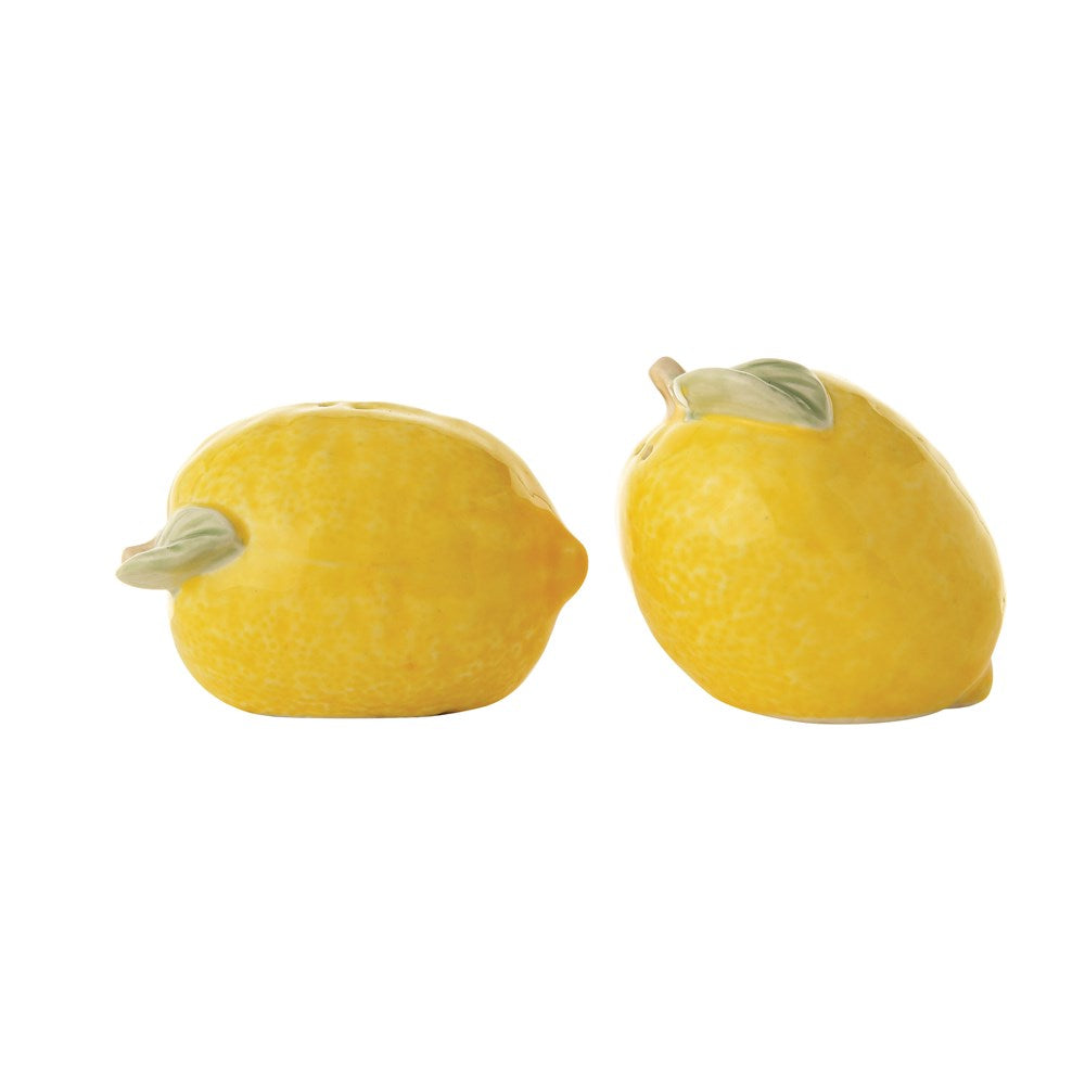 Stoneware Lemon Salt And Pepper Shakers
