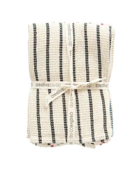 Cotton Waffle Weave Striped Tea Towels | Cornell's Country Store