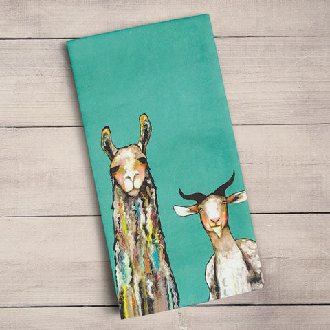 Donkey, Llama, Goat, Sheep Tea Towels