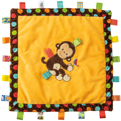 Taggies Dazzle Dots Monkey Cozy Blanket – 16×16″