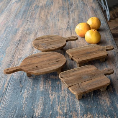 Farmhouse Collection Wooden Cutting Board Risers