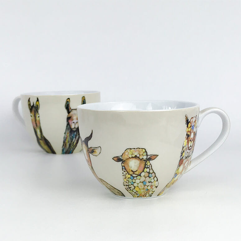 Farm Friends on Cream Serveware Mug
