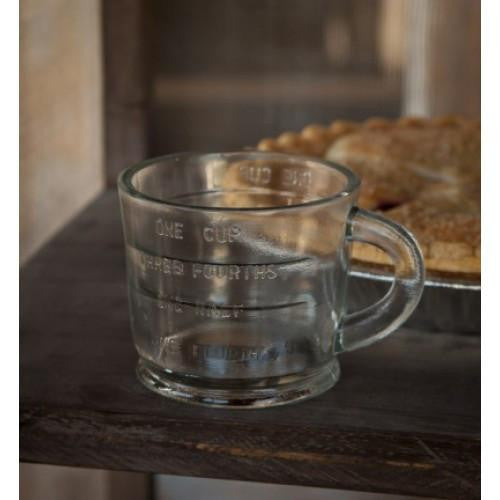 farmhouse collection glass measuring cup