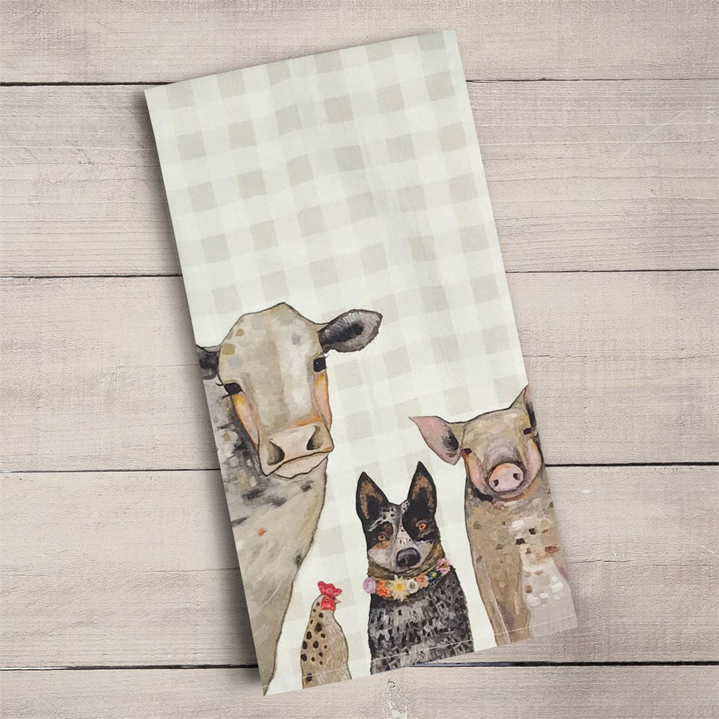 Cattle Dog and Crew Tea Towel